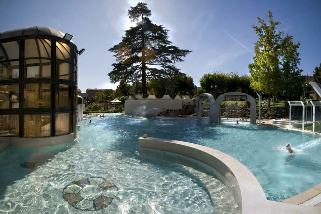 Terme di Casciana. Acqua calda a 35 gradi.