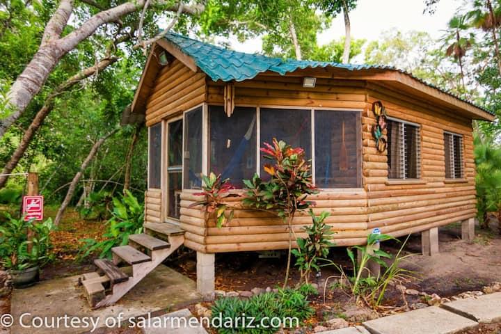Eco Friendly Monkey Cabin.