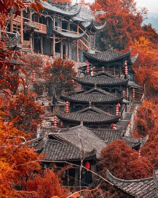 Hunan  stilted houses . 湘西吊脚楼