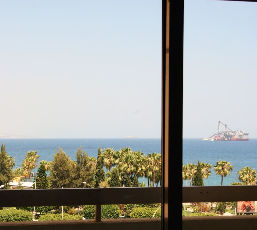 Sea view from the bedrooms.