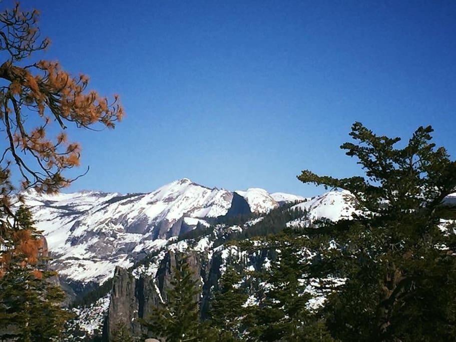 Half Dome view in winter