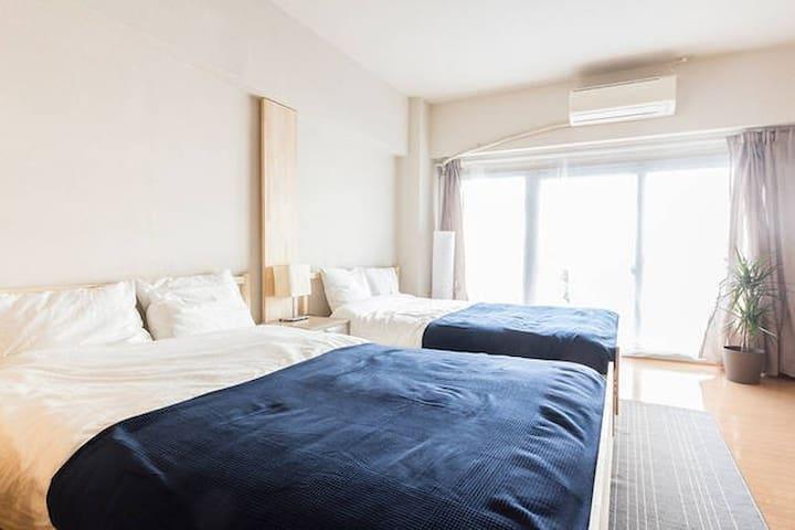40㎡-MAX5|Near Shinagawa |5min Takanawa Sta|WiFi - Minato-ku - Apartment