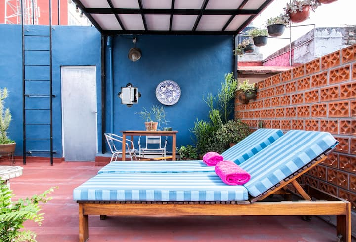 Very cool apartment with terrace in Roma Norte