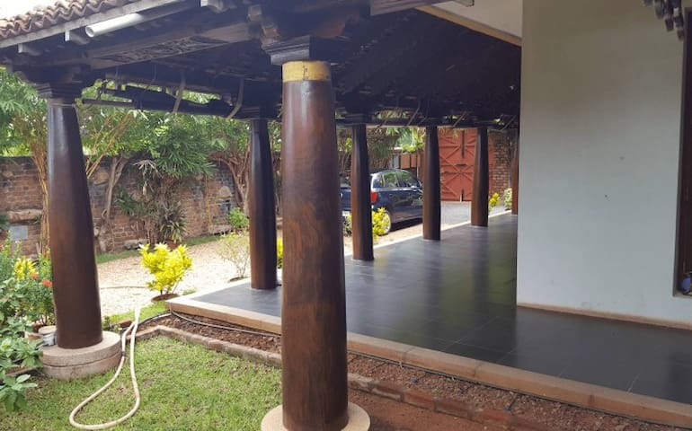 Pillars around the house