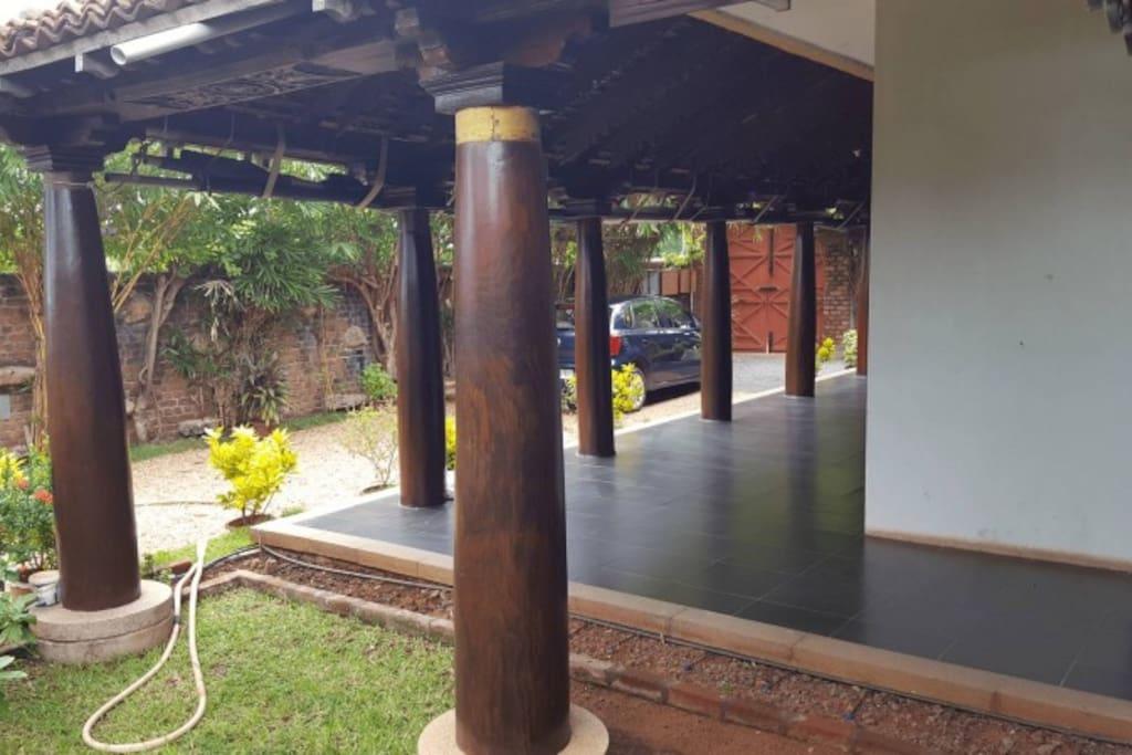 Pillars around the house