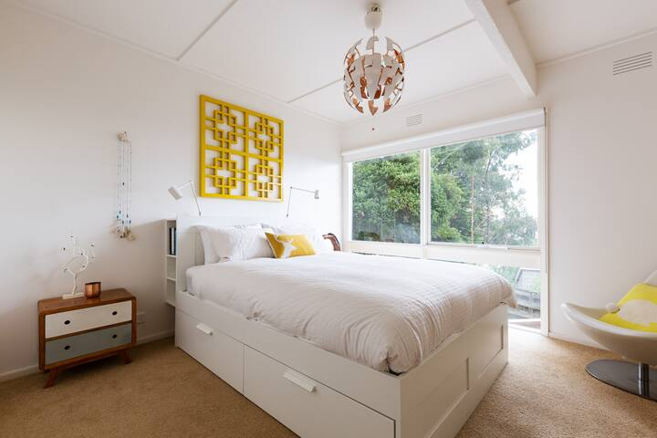 Comfortable Queen size bed in the master bedroom