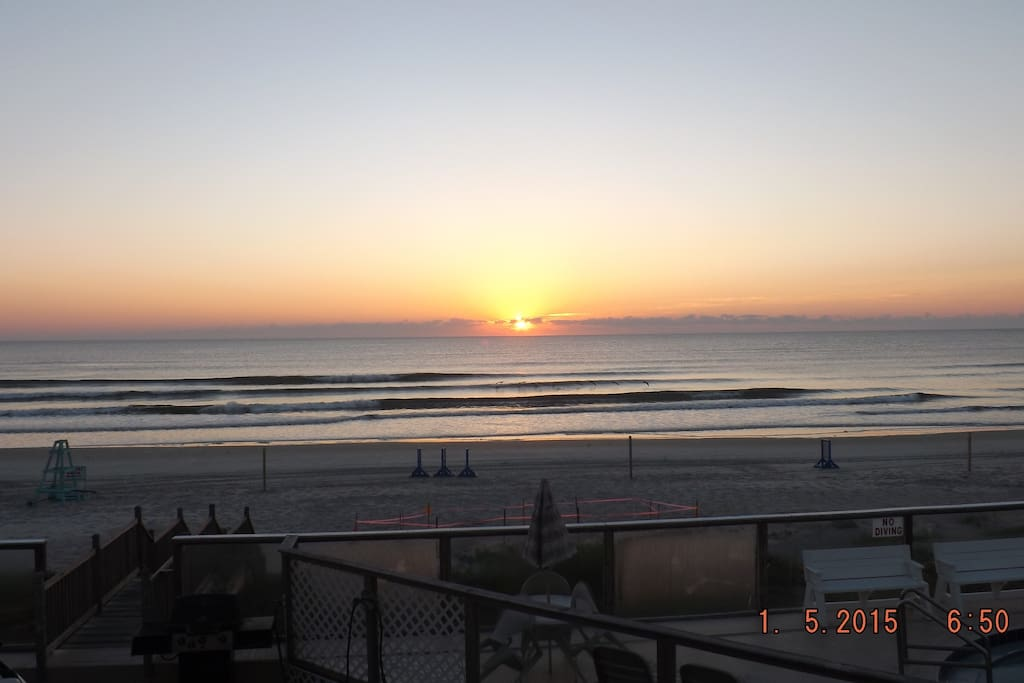 Sunrise from your Oceanfront Balcony