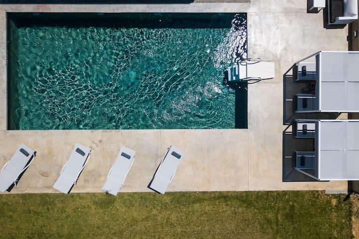 50 sq. m. private swimming pool area.