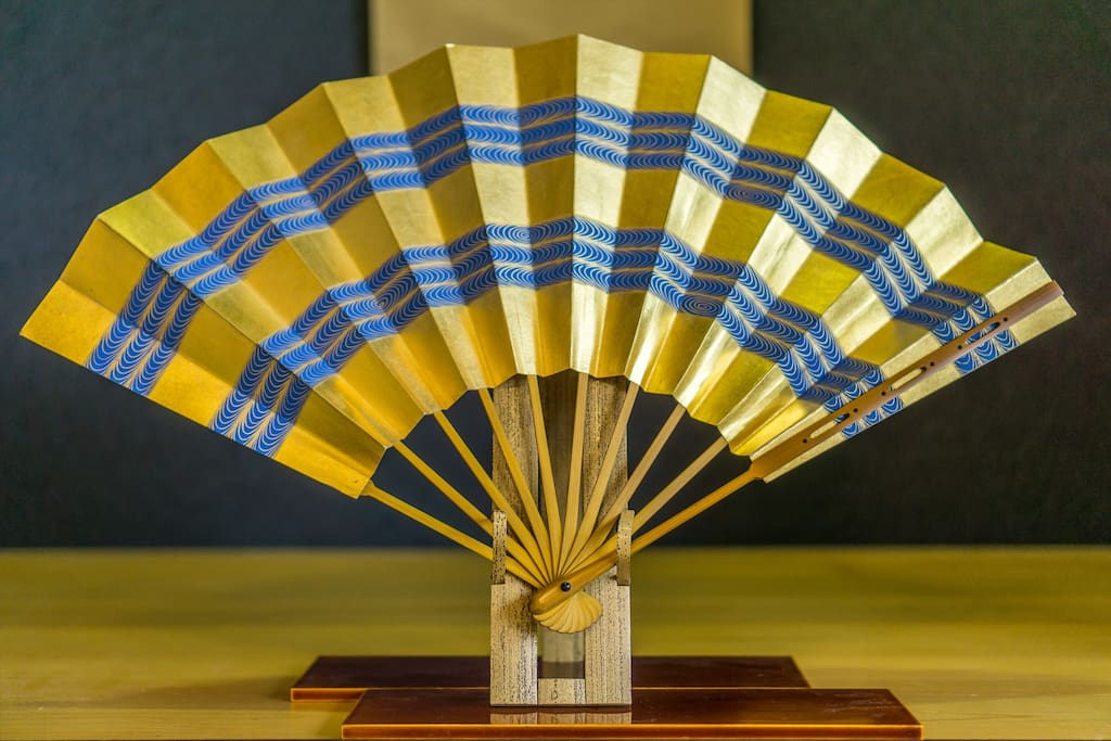 The key color of this house is blue, and this fan represents it :)