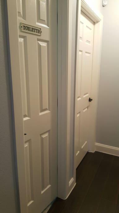 Hall shared bathroom