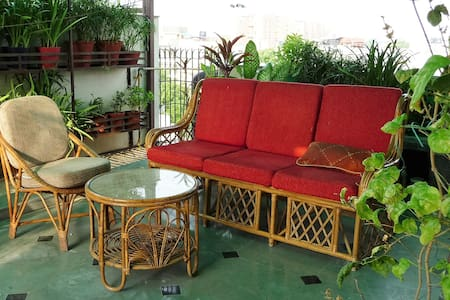 Private Sunny Terrace garden Studio (Kitchen, Bath - Nuova Delhi