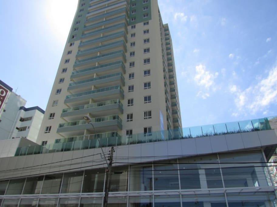 Vista da fachada do prédio