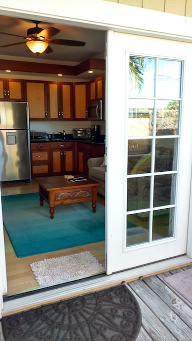 French doors to capture all our wonderful trade winds !
