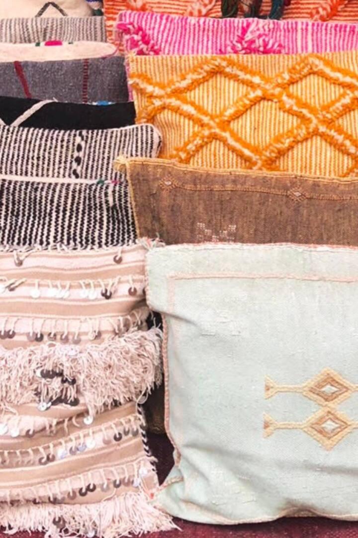 Fairtrade meditation pillows via Morocco