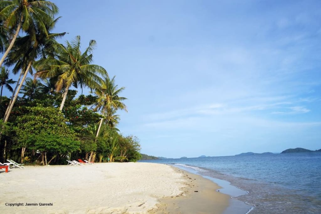 Klong Kloi beach, 5 minutes' walk from the bungalow