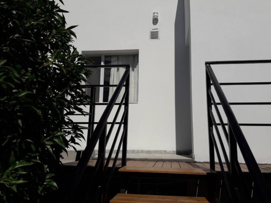 escalera compartida