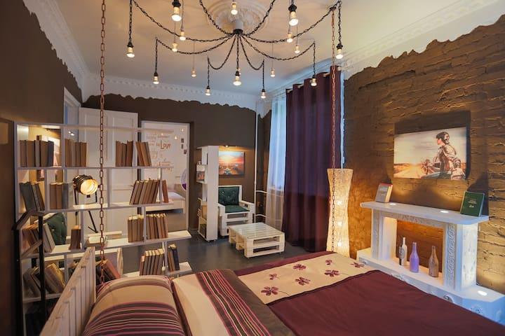 Арт-хаус: кровать-качеля на цепях; кресло-качеля; - Kiev - Leilighet