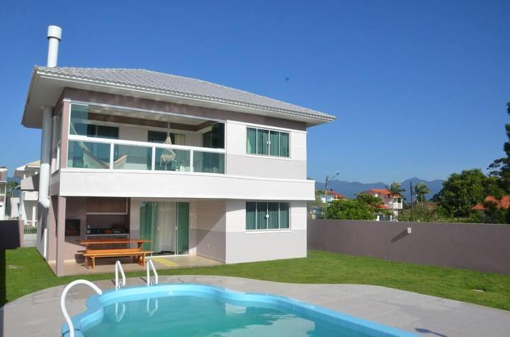 Casa de Praia na Pinheira - Frente para o Mar
