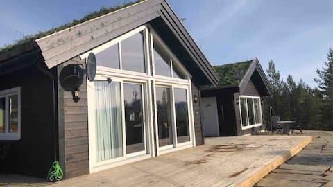 Ny hytte med anneks og utebad på Lemonsjøen
