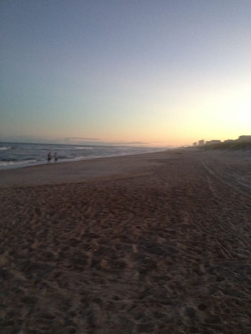 Unbelievable sunsets over the ocean and Carolina Beach Lake / Trail System is just a few blocks away