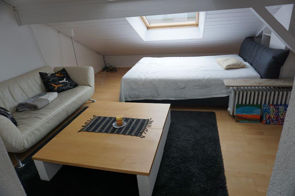 Couchecke, Doppelbett