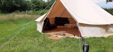 Extra Large Bell Tent with beds, sheets, towels