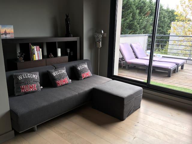 chambre salon- canapé lit