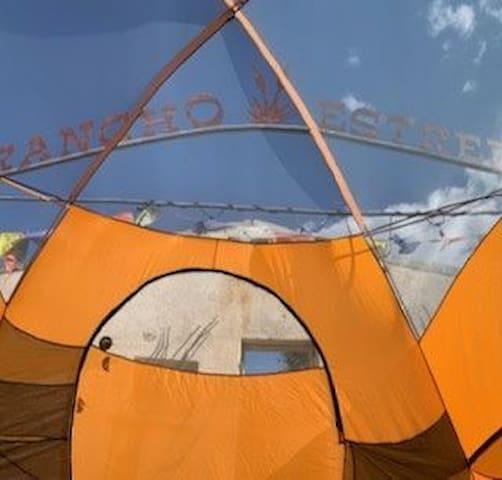 Tent Camping at RanchoEstrella in Marfa, Texas