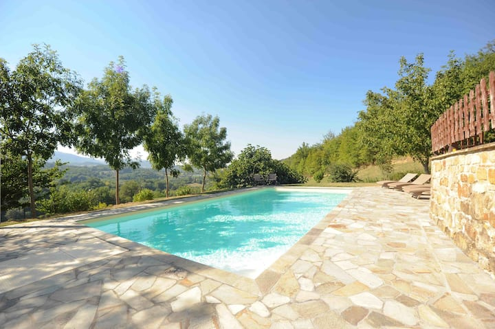 Villa near Sarnano, Le Marche, Italy with pool