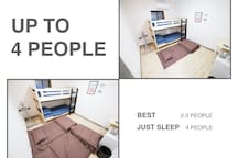 UP TO 4 PEOPLE