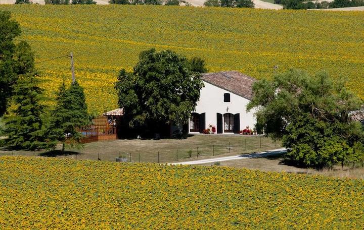 Rural gite with pool, sleeps 7, free wifi