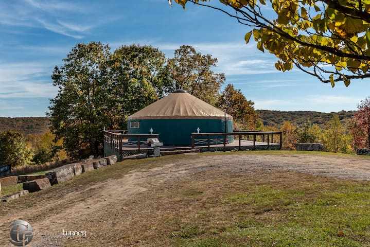 Our Most Private, Elegant Yurt + Views,  Hot Tub