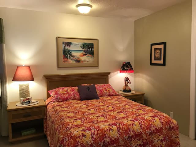 The first bedroom is a Queen size with Private bathroom and large closet.