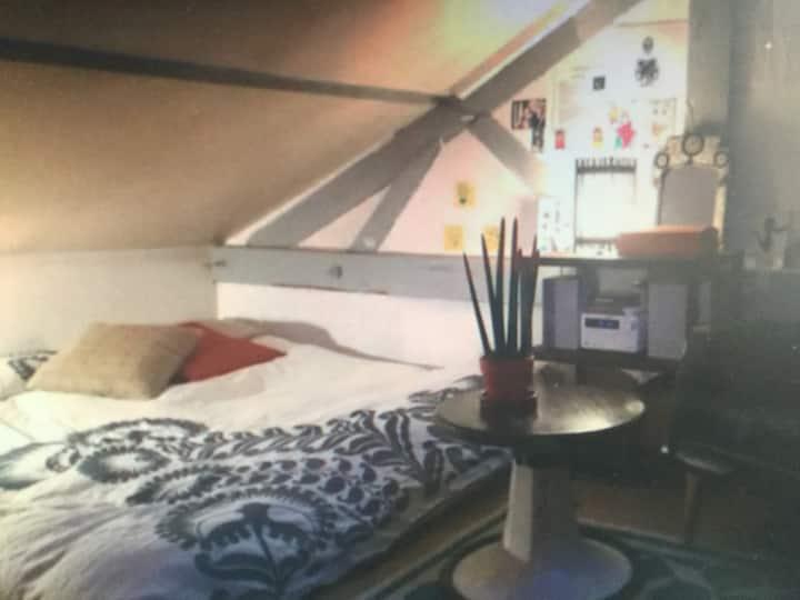 A sunny apartment.