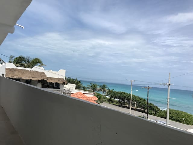 New apartment with partial Caribbean ocean view.