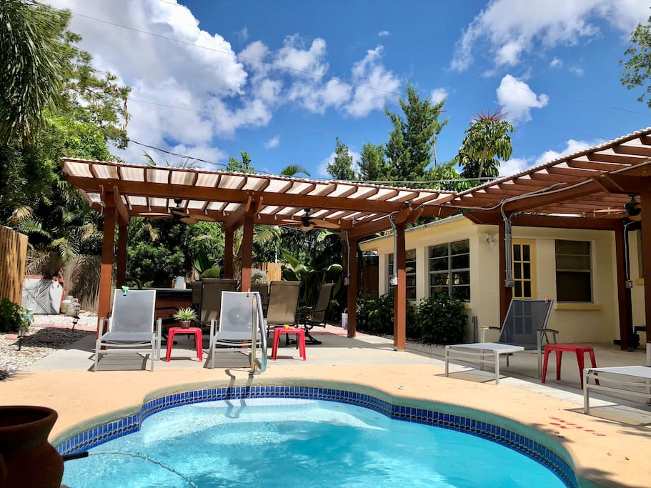 Lounge poolside in the private pool area and soak up the warm Florida sun! The heated pool can be enjoyed year-round.
