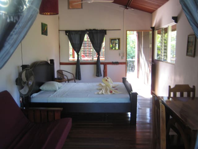 Master Bedroom view to Rainforest.