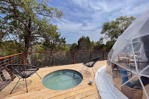 Morii : Luxury Glamping in Treetop Dome + Dip Pool