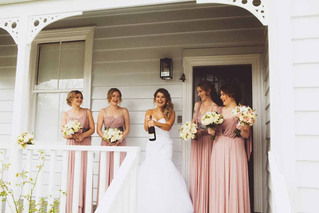 One of our fabulous brides shared her photos, taken at the villa, with us