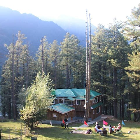 Breeze Wood Cottage- Shahtoosh Room - Pahalgam - Blockhütte