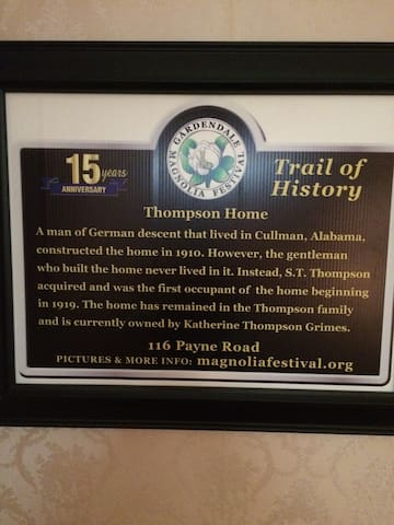 Historic Thompson Home Established in 1910