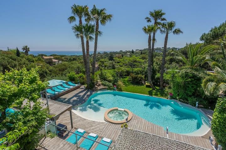 Villa 6ch vue mer piscine chauffée plage apieds 5*