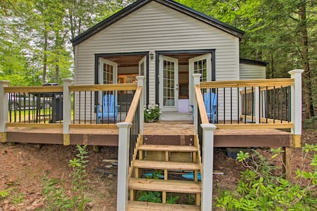 NEW! East Otis Romantic Escape w/ Shared Dock!