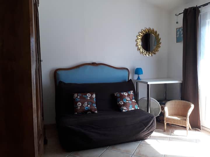 chambre privée de 20 m2 avec BZ 2 personnes
