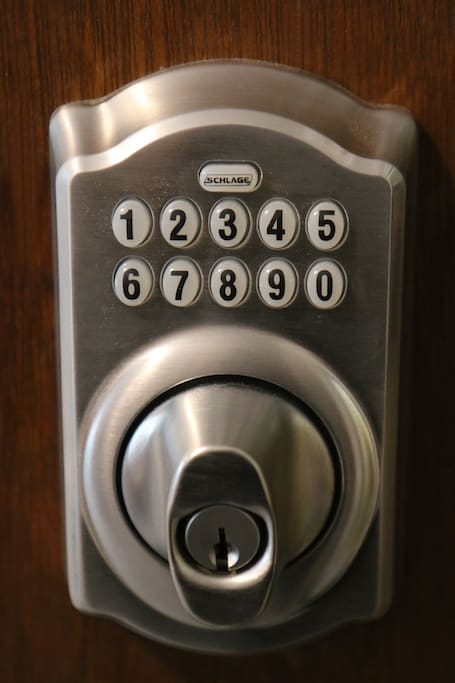 Front door and unit door have punch code security locks.  No keys.  Unit codes are changed for each new guest