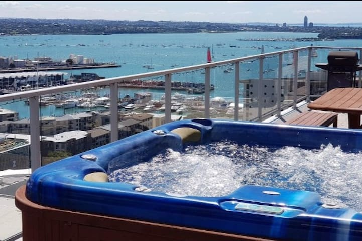 Auckland CBD Penthouse, with private hot tub.