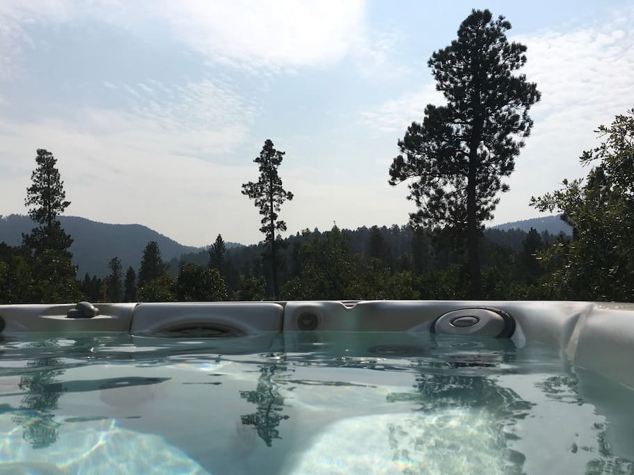 Hot tub - relax and take in your private view.  Perfect for star gazing, sunrise to sunset beauty escape and relax make memories with those you love.