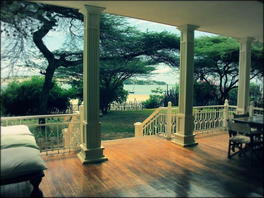 Veranda facing the Indian Ocean