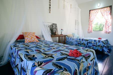 chambre partagée, accès privé à la mer - Teahupoo