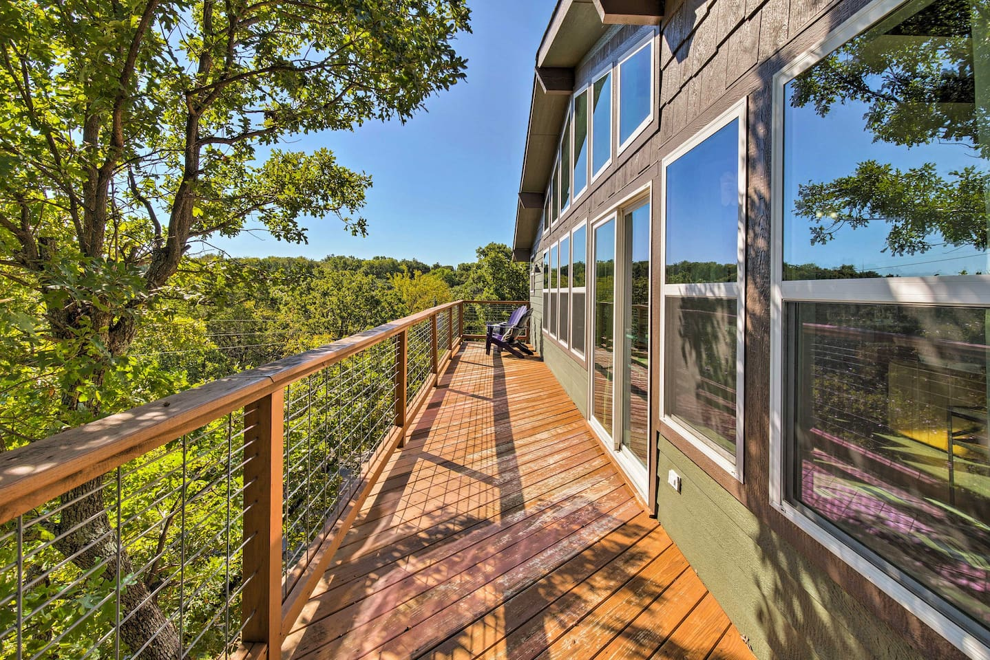 This 3-bedroom, 2.5-bath vacation rental home is the perfect Texahoma retreat!